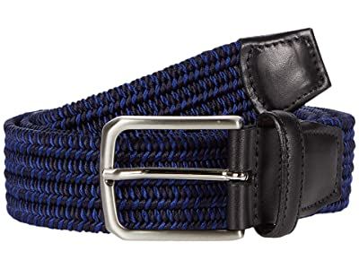 Torino Leather Co. 35mm Italian Woven Rayon Elastic (Navy) Men