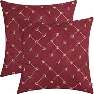 CaliTime Cushion Covers Pack of 2 Supersoft Throw Pillow Covers Cases for Couch Bed Sofa Decor Modern Diamonds Shape Trell...