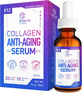 GENIUS Collagen Anti-Aging Serum, The Smart Anti Aging Serum for Face, Plumps, Firms, Corrects, Reduces Signs of Lines & Wrinkles 1oz