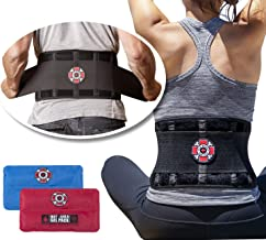 Back Brace with Ice Packs by Old Bones Therapy - Ice or Heat On The Go - Pain Relief for Lower Back Pain - Adjustable Back Support Belt + Lumbar Support for Men & Women (Back Brace + Gel Packs, L/XL)