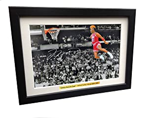 Signed Michael Jordan Famous Foul Line Dunk Chicago Bulls Basketball Autographed Photo Picture Memorabilia Gift A4