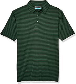 PGA TOUR Men's Short Sleeve Feeder Stripe Polo Shirt