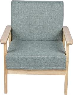 Cikonielf Fauteuil de canapé avec cadre en bois pour salon, bureau, chambre à coucher
