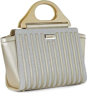 Bolso bolso satchel con agarradera de madera - Cloe