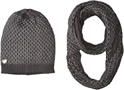 Betsey Johnson - Net Worth Two-Piece Set Infinity Beanie