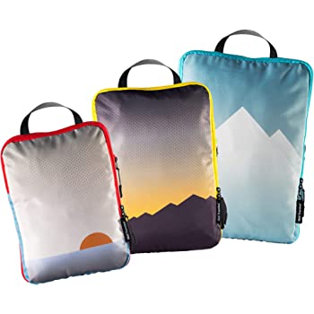 Well Traveled - 3pc Compression Packing Cubes for Travel - Luggage Organizer, Suitcase Organizer & Backpack Organizer with Space Saver Travel Bags for Packing Clothes, Travel Gear & Travel Accessories