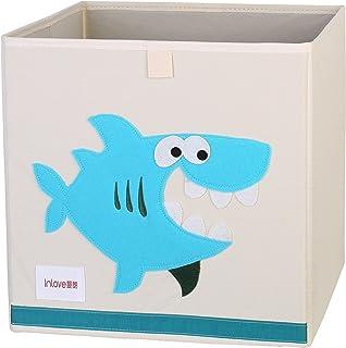 Boîte de rangement jouets de animé cube Toile Organisateur pliable pour enfants par ELLEMOI (Requin)