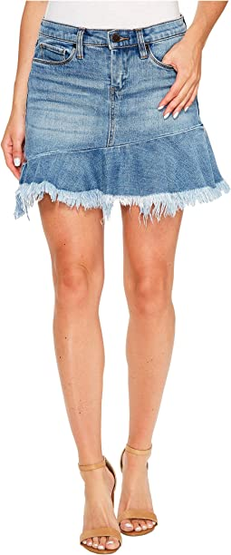 Blank NYC Denim Ruffle Mini Skirt in Fancy That