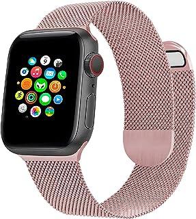 Cinturino per Orologio in Metallo Milanese Compatibile con Cinturino Apple Watch 44mm 42mm, Cinturino Magnetico Regolabile...