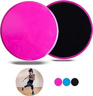 Velovita Slider Discs – Yoga Retreat • Juego de 2 • Discos deslizantes de doble cara • Para suelos de madera y moqueta • Equipamiento de entrenamiento para el gimnasio y el hogar • Almohadillas de fitness para el entrenamiento de todo el cuerpo