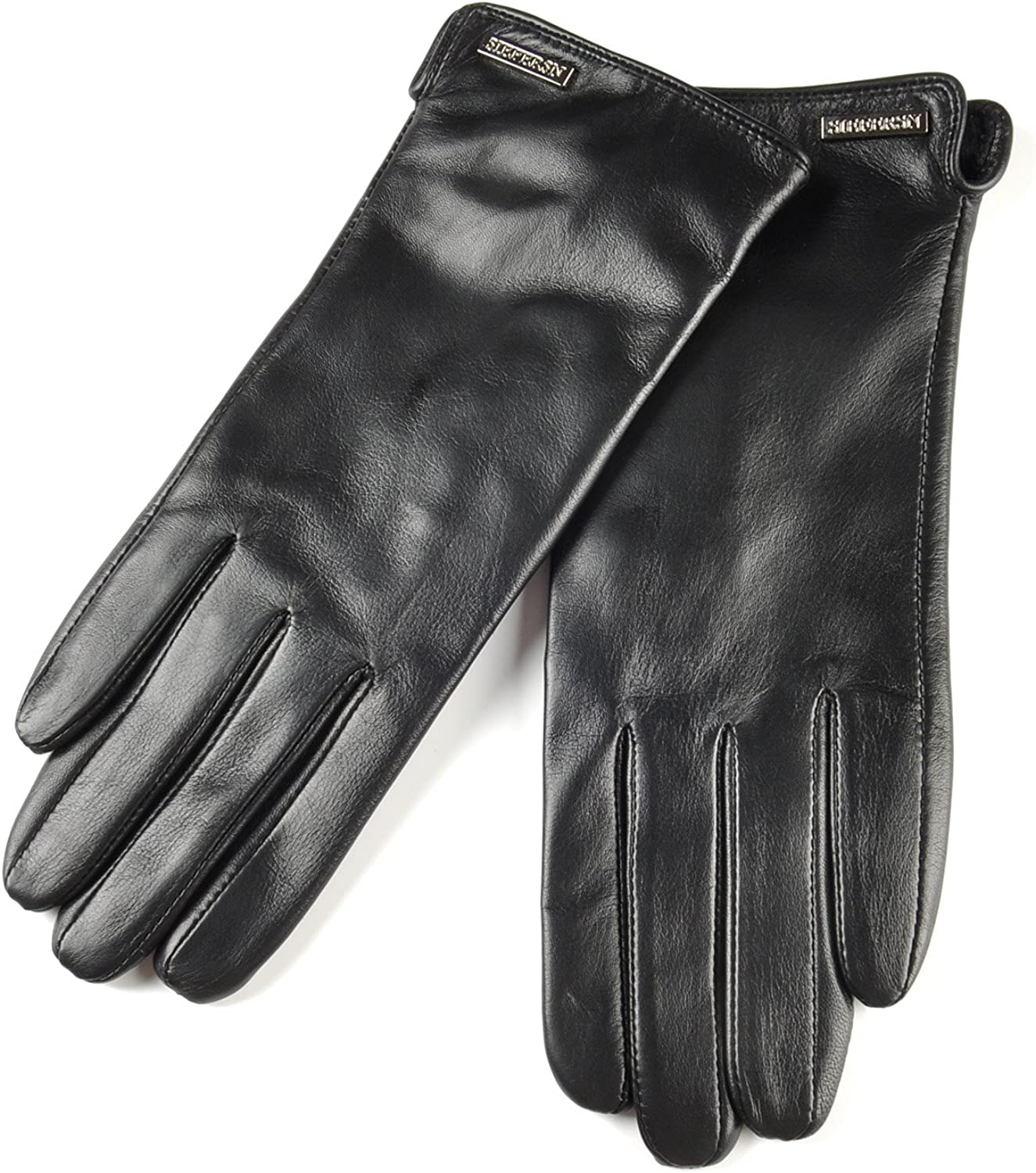 SIEFERSN Simple Basic Style Women's Nappa Gloves Whole Hands Touchscreen Winter Warm Driving Gloves 1164125041