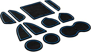 CupHolderHero for Dodge Challenger 2015-2020 Custom Fit Cup Holder, Door, and Center Console Liner Accessories 11-pc Set (Blue Trim)