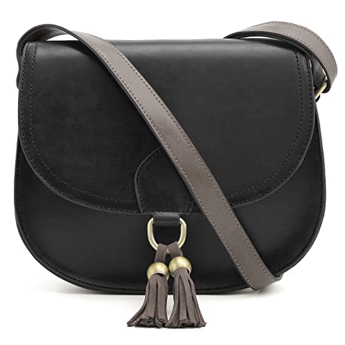 e408dbc646a ECOSUSI Saddle Shoulder Bags Purse Vintage Crossbody Bag for Women with  Tassels