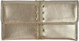 Pale Gold Leather Astor Flap Continental Wallet Bag Handbag Purse