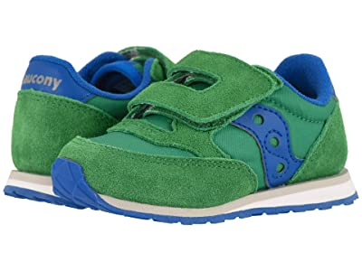Saucony Kids Originals Jazz Hook Loop (Toddler/Little Kid) (Green/Blue) Boys Shoes
