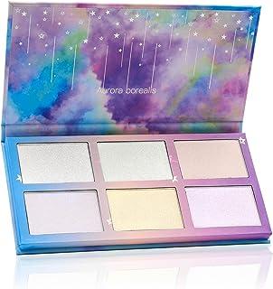 TZ COSMETIX - Aurora Borealis 6 Colors Highlighter/Glow Kit - Soft Texture Wet Powder Illuminating Duochrome Makeup Palett...