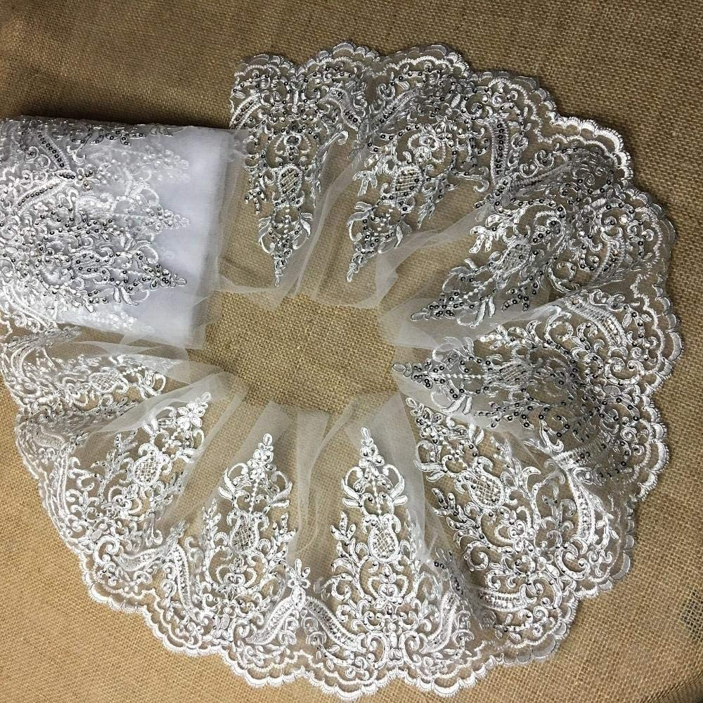 Bridal Mail order Ranking integrated 1st place cheap Veil Lace Trim Gorgeous Alencon Embroidered Elegant Corde