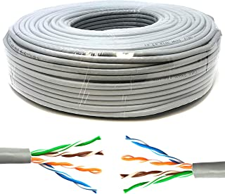 Mr. Tronic 50m Ethernet-netwerk Bulkkabel   CAT5E, AWG24, CCA, UTP (50 Meter, Grijs)
