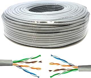 Mr. Tronic 100m Cable de Instalación Red Ethernet Bobina | CAT5E, AWG24, CCA, UTP | Color Gris (100 Metros)