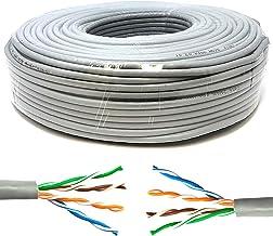 Mr. Tronic 50m Cable de Instalación Red Ethernet Bobina | CAT5E, AWG24, CCA, UTP | Color Gris (50 Metros)