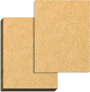 100 Sheets, Brown Kraft Paper, 8.5 x 11 inches, 100 GSM (37 lb. Cover)