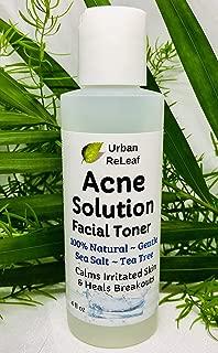 Urban ReLeaf Acne Solution Facial Toner! Sea Salt & Tea Tree. Disinfects Skin, Calms & Heals breakouts. 4 oz. Gentle Effective. 100% Natural & Soothing