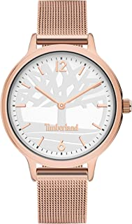 Timberland Moulton Women's Analogue Quartz Watch with Silver Dial and Rose Gold Stainless Steel Bracelet - TBL.15963MYR-04MM