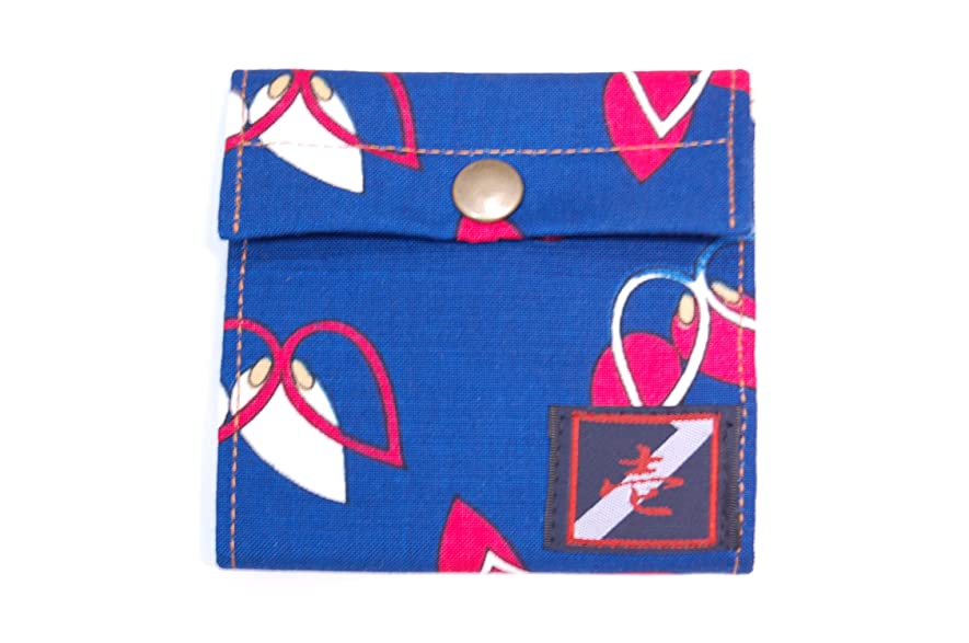 甘くする決めますキャリア【着物カードケース】【青レトロ】カードが8ポケットと御札やメモなどが入れれる和柄カードケース!