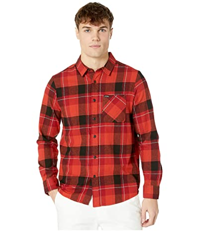Volcom Caden Plaid Long Sleeve (Deep Red) Men