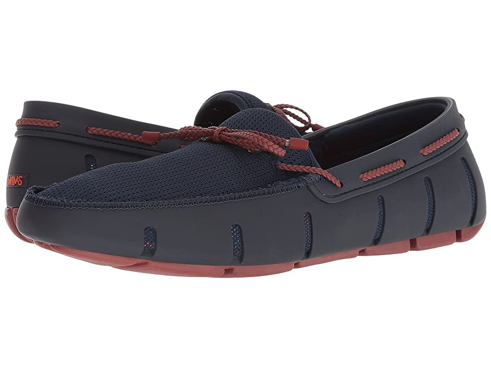 SWIMS Braided Lace Loafer (Navy/Red Lacquer) Men