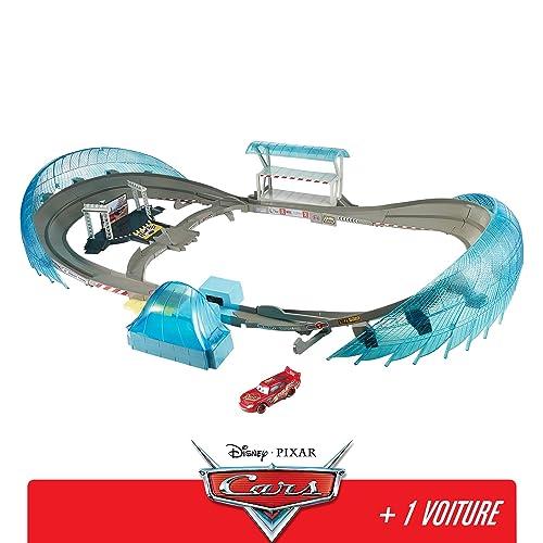 Disney Pixar Cars Grand Circuit de Floride pour course de voitures, avec Booster, véhicule Flash McQueen inclus, jouet pour enfant, FCW02