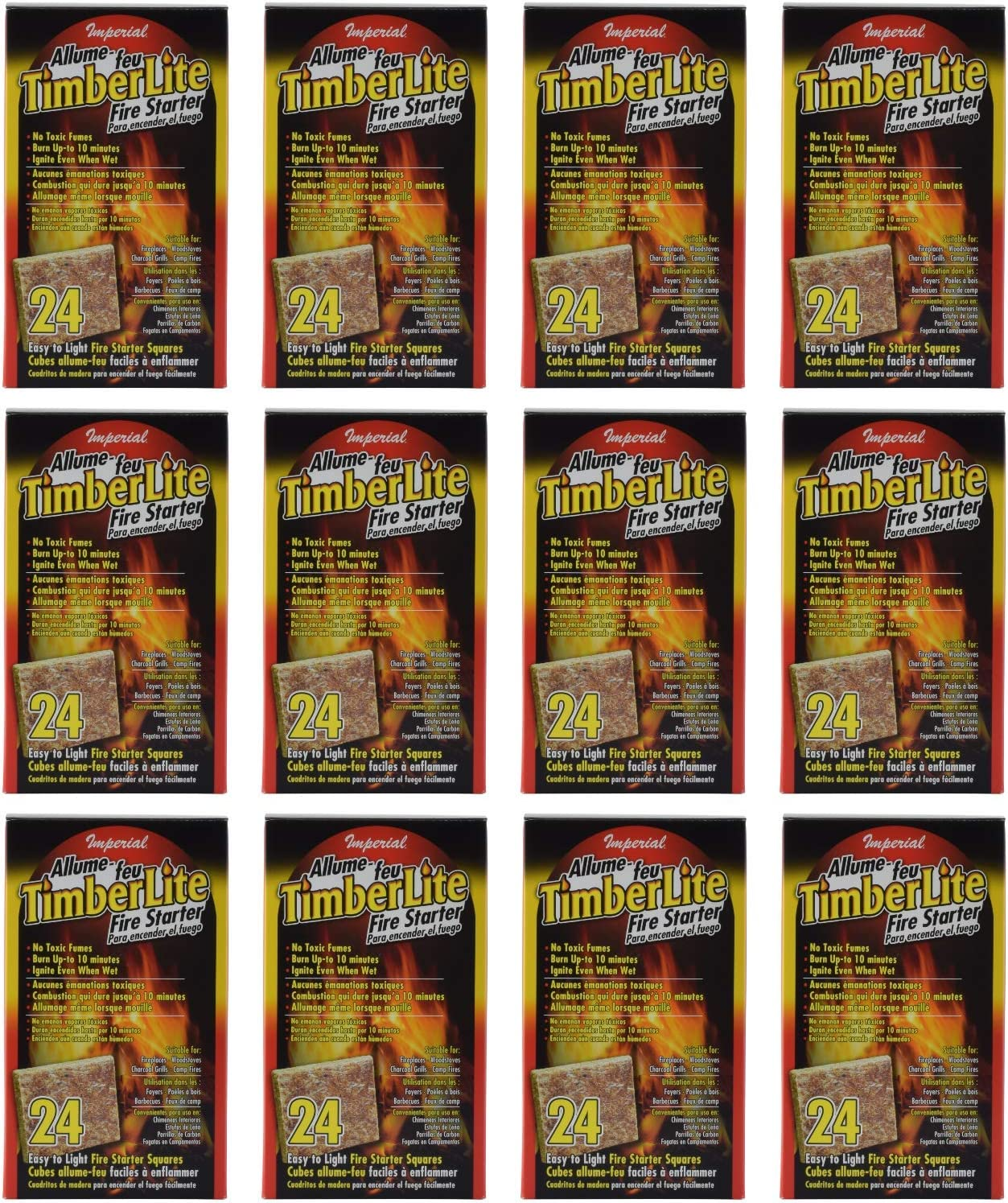 Imperial KK0312 Timberlite Fire Starter trend rank 288 Red P Max 85% OFF Squares