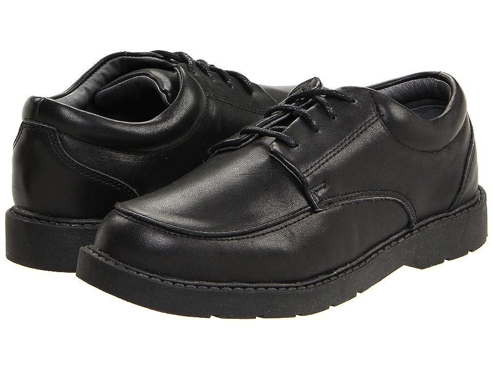 School Issue Graduate (Toddler/Little Kid/Big Kid) (Black Leather) Boys Shoes