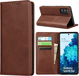 Cavor for Samsung S20 FE Case,for Samsung Galaxy S20 FE 5G Case,Cowhide Pattern Leather Case Magnetic Wallet Cover with Ca...
