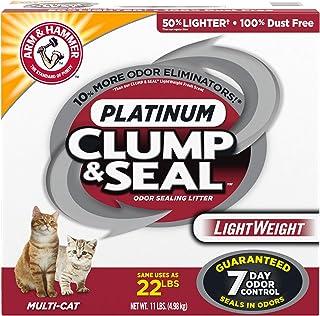 ARM & HAMMER 10033200016738 Clump & Seal Platinum Lightweight Cat Litter, Multi-Cat, 11Lbs