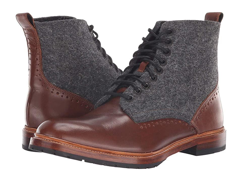 Stacy Adams M2 Plain Lace-Up Boot (Cognac) Men