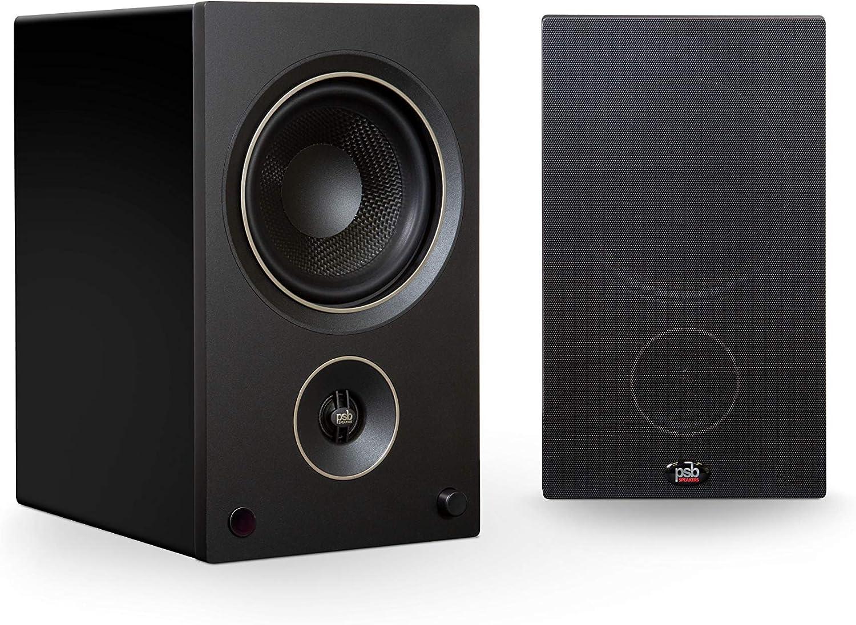 Max 46% OFF PSB Alpha AM5 Powered Speakers Black Bookshelf Atlanta Mall -