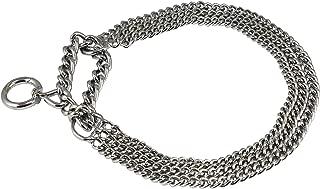 Triple Chain Semi Choke Martingale Dog Collar 2mm Link Chrome 7 Sizes