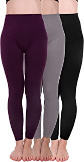3 Pack Extra-Thick French Terry Thermal Leggings