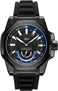 JBW Mens Quartz Watch, Analog Display and Silicone Strap