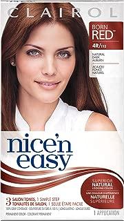 Clairol Nice 'n Easy, 4R/112 Natural Dark Auburn, Permanent Hair Color, 1 Kit