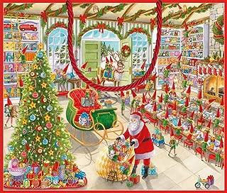 Entertaining with Caspari 9713B3 Santa's Workshop 11-3/4 by 4-3/4 by 10