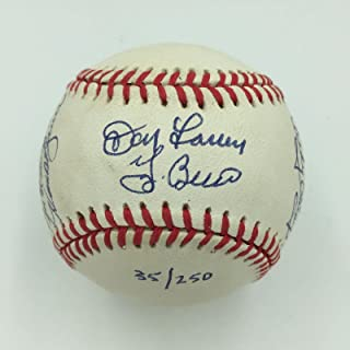 Don Larsen & Yogi Berra 1956 World Series Perfect Game Signed Baseball COA - JSA Certified - Autographed Baseballs