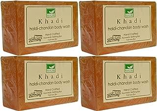 Khadi Mauri Haldi Chandan Soap Pack Of 4 Ayurvedic Handcrafted Herbal