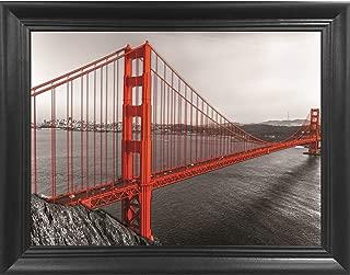 Golden Gate Bridge Large 3D Poster Wall Art Decor Framed Print | 22.5x26.5 | Lenticular Posters & Pictures | Memorabilia Gifts for Guys & Girls Bedroom | Famous Red Bridge Landmark in San Fransisco