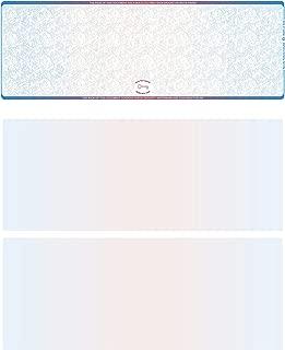 Blank High Security Top Computer Checks, 250 Blue/Red Checks