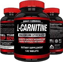 L-Carnitine 1000mg Servings 120 Tablets – Carnitine Amino Acid - Arazo Nutrition USA