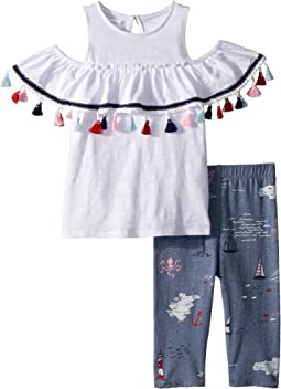 Tassel Tunic and Capris Two-Piece Set (Toddler)