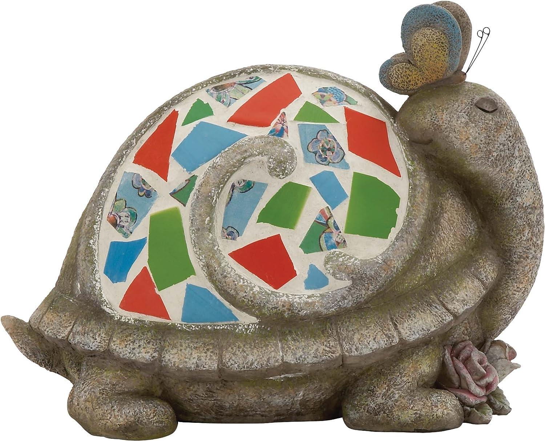 Benzara The Cutest Polystone Mosaic Turtle
