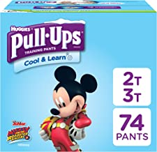 Pull-Ups Cool & Learn, 2T-3T (18-34 lb.), 74 Ct. Potty Training Pants for Boys, Disposable Potty Training Pants for Toddler Boys (Packaging May Vary)